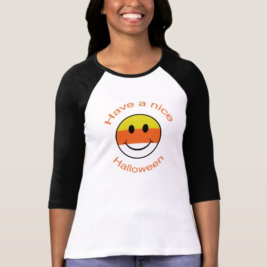 Candy Corn Smiley T-Shirt