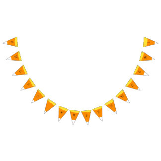 Candy Corn Sweet Halloween - Bunting Flags