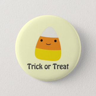 Candy corn - Trick or treat 6 Cm Round Badge