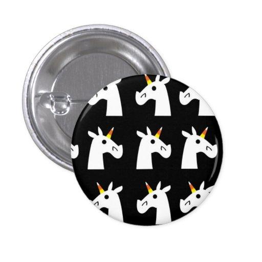 Candy Corn Unicorn Button