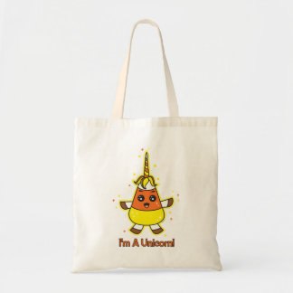 Candy Corn Unicorn Tote Bag