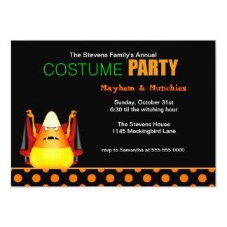 Candy Corn Vampire Halloween Costume Party 13 Cm X 18 Cm Invitation Card