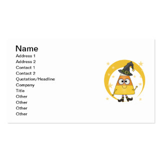 Candy Corn Witch Halloween Business Cards