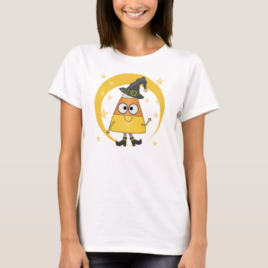 Candy Corn Witch Halloween T-Shirt