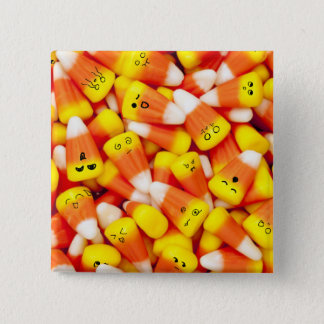 Candy Corn With Cute Faces Button
