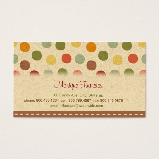 Candy Dots Business Card