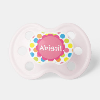 Candy Dots Personalised Pacifier