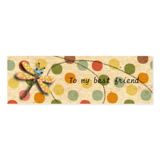 Candy Dragonfly Bookmark Pack Of Skinny Business Cards
