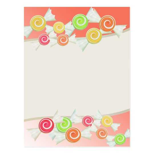 Candy Drops Postcard