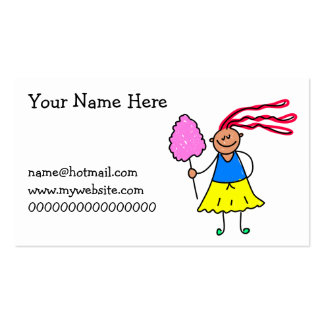 Candy Floss Kid Pack Of Standard Business Cards