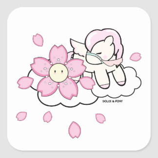 Candy-floss Pony | Square Stickers Dolce & Pony