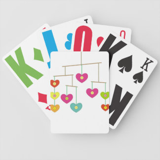 Candy from a baby bicycle playing cards