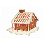 Candy Gingerbread Cottage Post Card