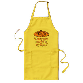 Candy goes straight to my hips long apron