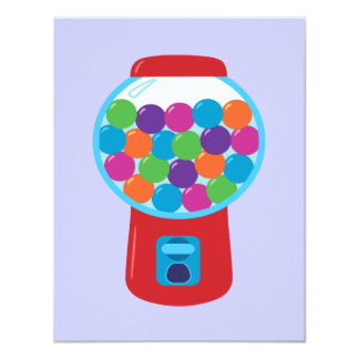 Candy Gumball Machine 11 Cm X 14 Cm Invitation Card