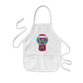 Candy Gumball Machine Kids Apron