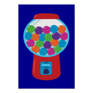 Candy Gumball Machine Poster
