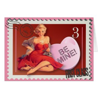 Candy Heart BeMine! KItsch Bitsch Valentine Card