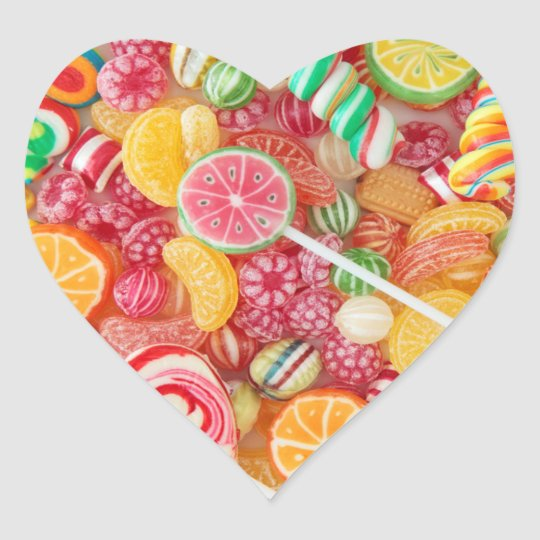 Candy Heart Shaped Stickers