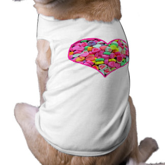 CANDY HEART SLEEVELESS DOG SHIRT
