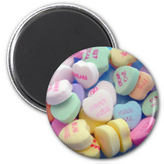 Candy Hearts 6 Cm Round Magnet