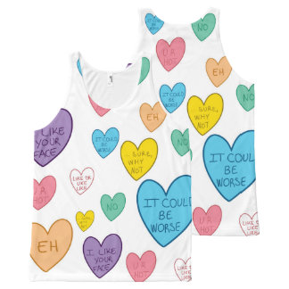 Candy Hearts All-Over Print Tank Top