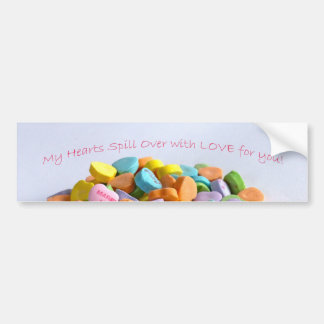 Candy Hearts Bumper Sticker