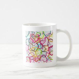 Candy Hearts Classic White Coffee Mug