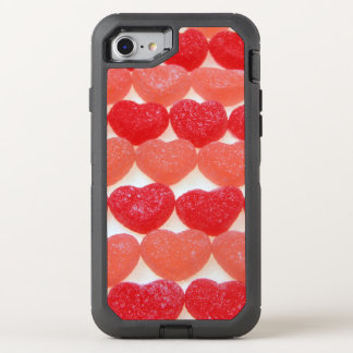 Candy Hearts In A Row OtterBox Defender iPhone 7 Case