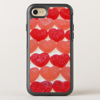 Candy Hearts In A Row OtterBox Symmetry iPhone 7 Case