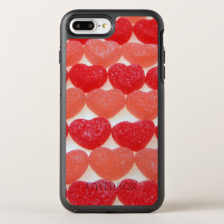 Candy Hearts In A Row OtterBox Symmetry iPhone 7 Plus Case