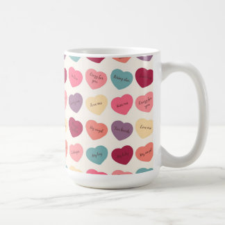Candy Hearts & Love Messages Mug