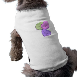 Candy Hearts Sleeveless Dog Shirt