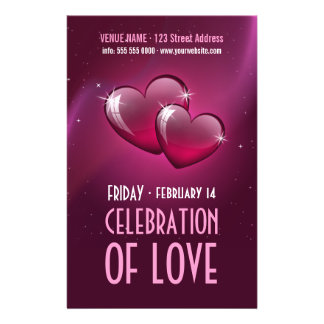 Candy Hearts - Valentine's Day party flyer