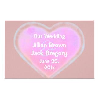 Candy Hearts WEDDING Program Custom Flyer