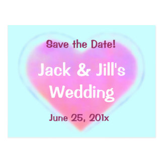 Candy Hearts WEDDING Save The Date Post Card