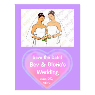 Candy Hearts WEDDING Save The Date Postcard