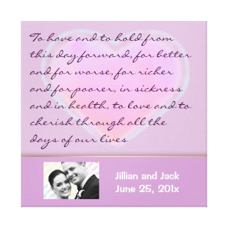 Candy Hearts WEDDING Vows display canvas print