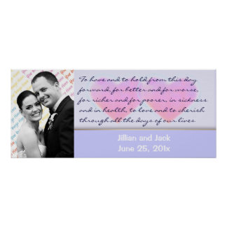 Candy Hearts WEDDING Vows display poster