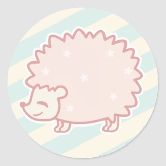 Candy Hedgehog by Yokute Classic Round Sticker