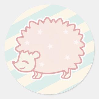 Candy Hedgehog by Yokute Round Sticker