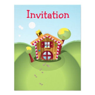 Candy House on the Hill Invitations