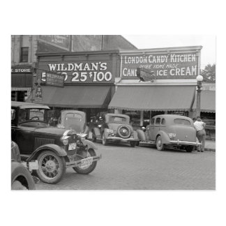 Candy & Ice Cream Shop, 1938 Post Card