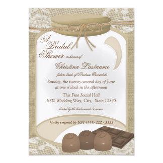 Candy Jar and Chocolates Bridal Shower Card