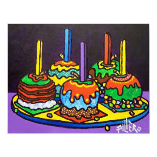 Candy Jelly  Apples 11 Cm X 14 Cm Invitation Card