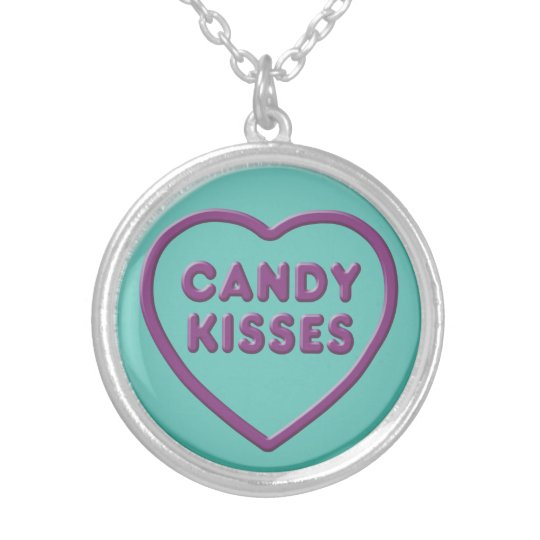 Candy Kisses Silver Plated Necklace