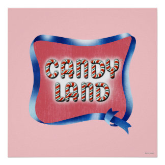 Candy Land Aged Logo Poster