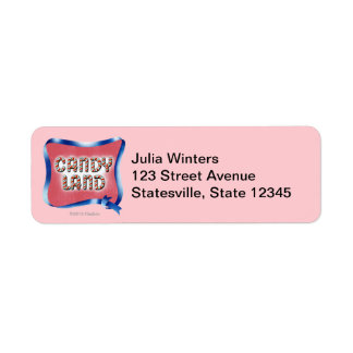 Candy Land Aged Logo Return Address Label