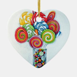 Candy land ceramic heart decoration