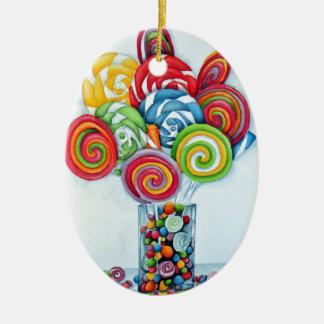 Candy land ceramic oval decoration